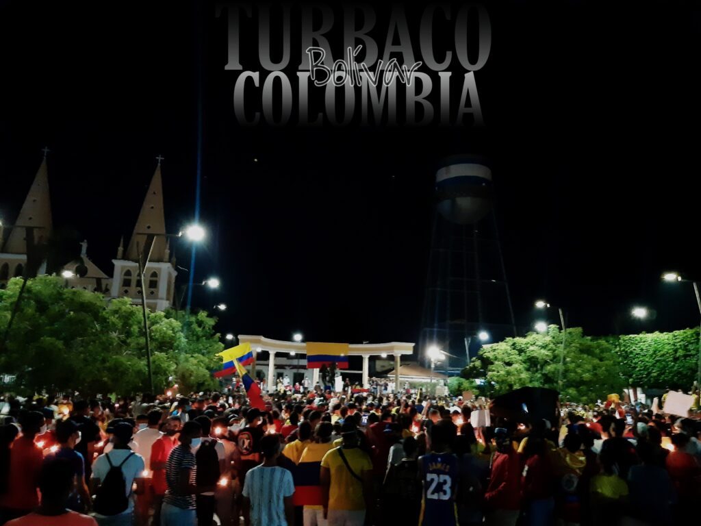 Velatón en Turbaco - Foto: Rayson Romero
